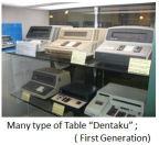 """TUS-Many type of Table """"Dentaku"""""""