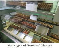 "TUS-Many types of ""Soroban"" (abacus)"