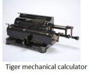 TUS-Tiger mechanical calculator